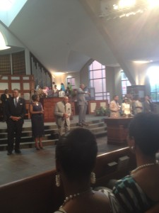 CCJI student Interns attend Sunday Service at Historic Ebenezer Baptist Church