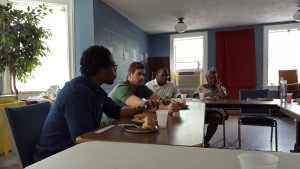 CCJI Interns continue conversation with Inez Giles, longtime resident and member of Oakhurst Presbyterian congregation