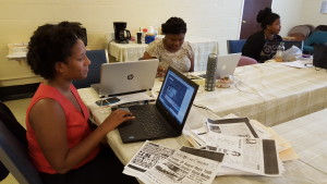 CCJI Atlanta interns researching their respective cases